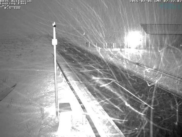 Poor visibility on the A835 near Altguish