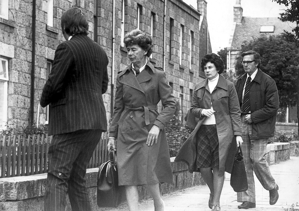 Florence Page and Rita Ling visit the Allan Street flat where Brenda Page was murdered