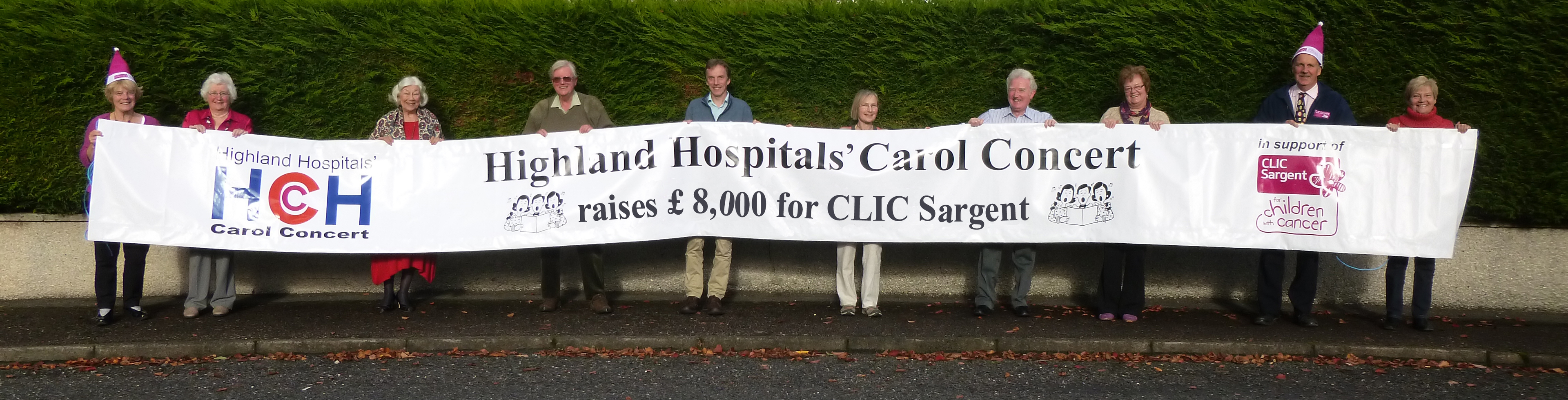 £8,000 has been donated to CLIC Sargent