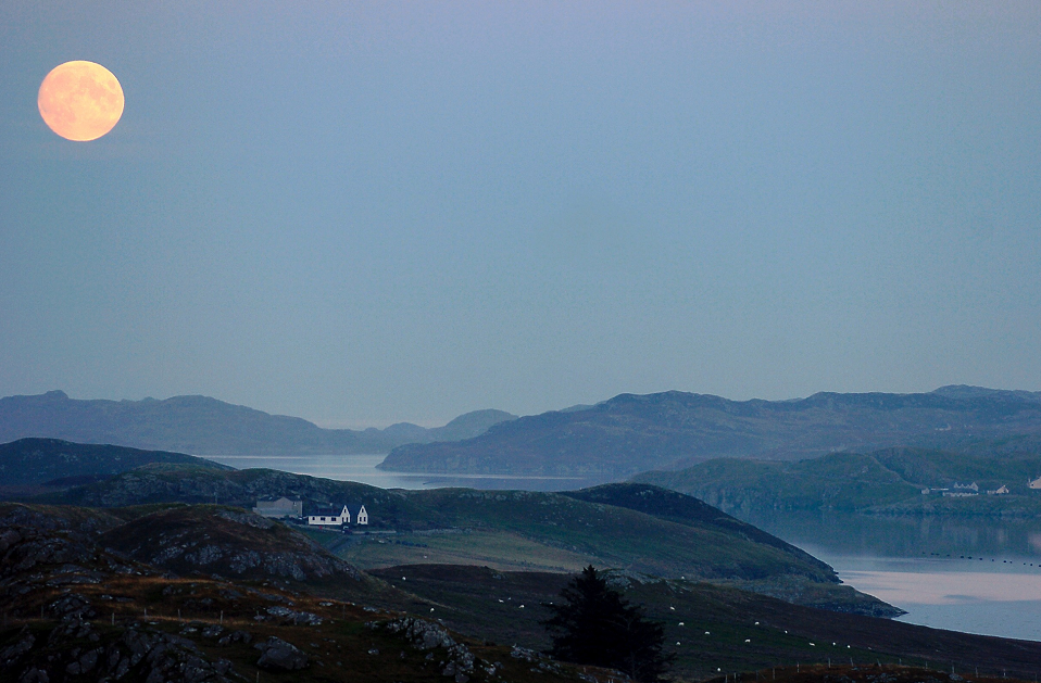 The moon over the Isle of Lewis