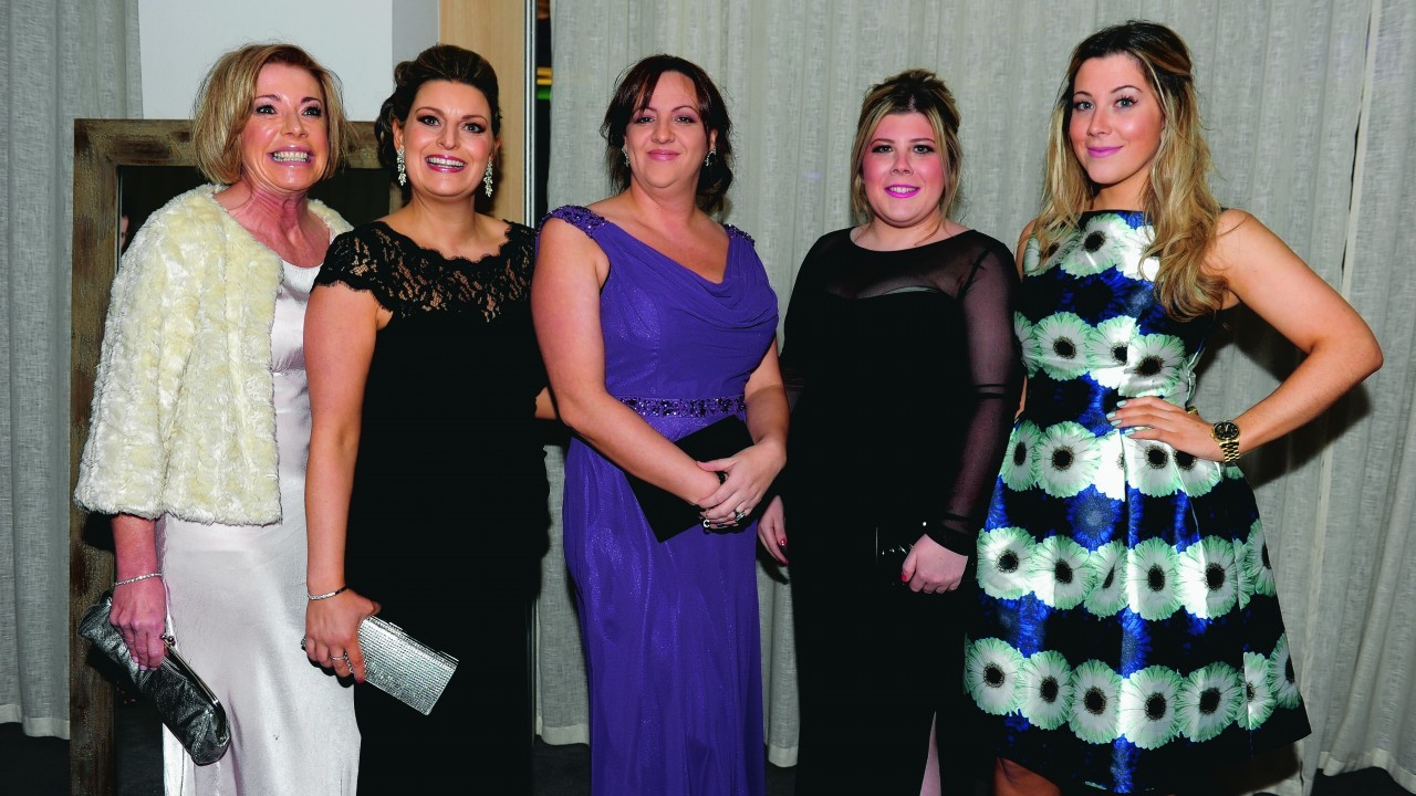 Angela Goldie, Claire Sheperd, Cathy Robertson, Fiona Morrison and Kimberley Morrison.