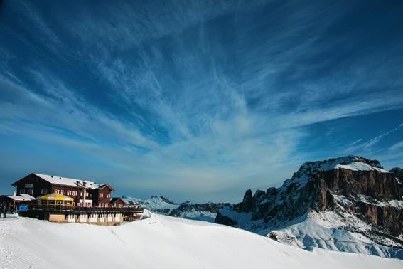 A ski restuarant at Val Di Fassa