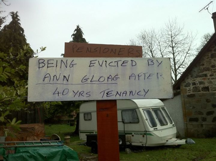 The message put up outside the pensioners' home