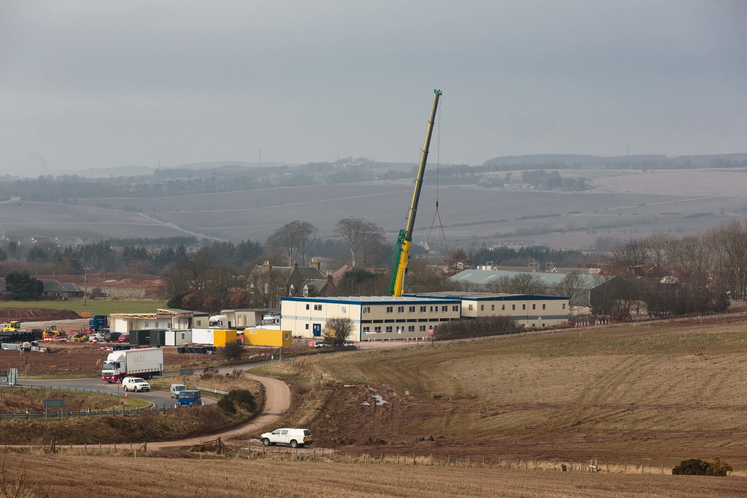 Greenwell Equipment have supplied the AWPR headquarters which is going up just north of Stonehaven