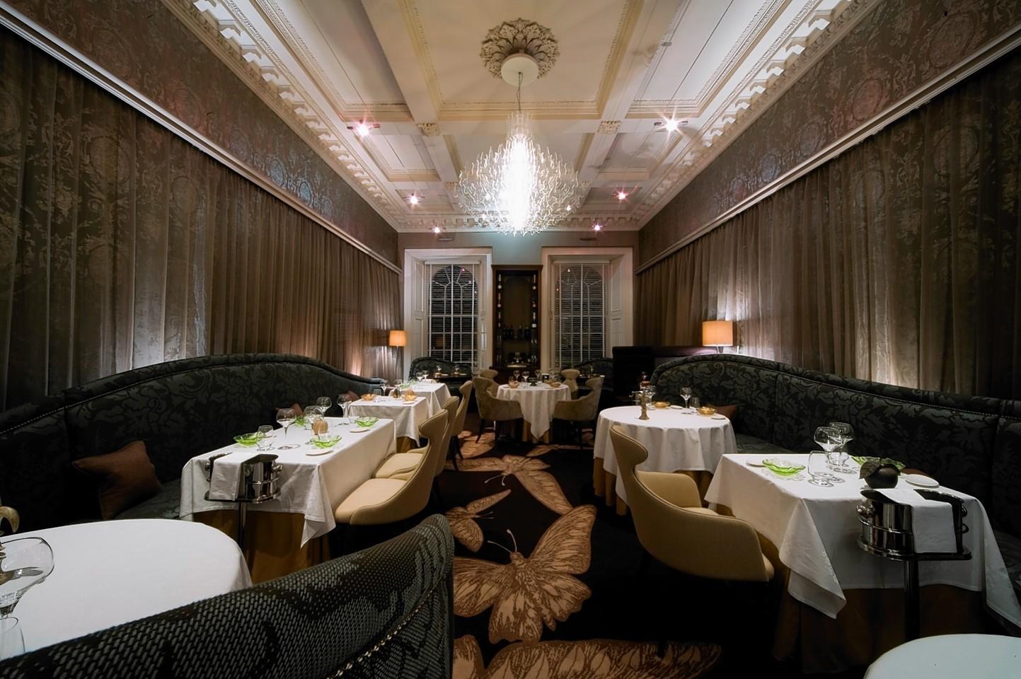 The stunning 21212 restaurant, in the heart of Edinburgh