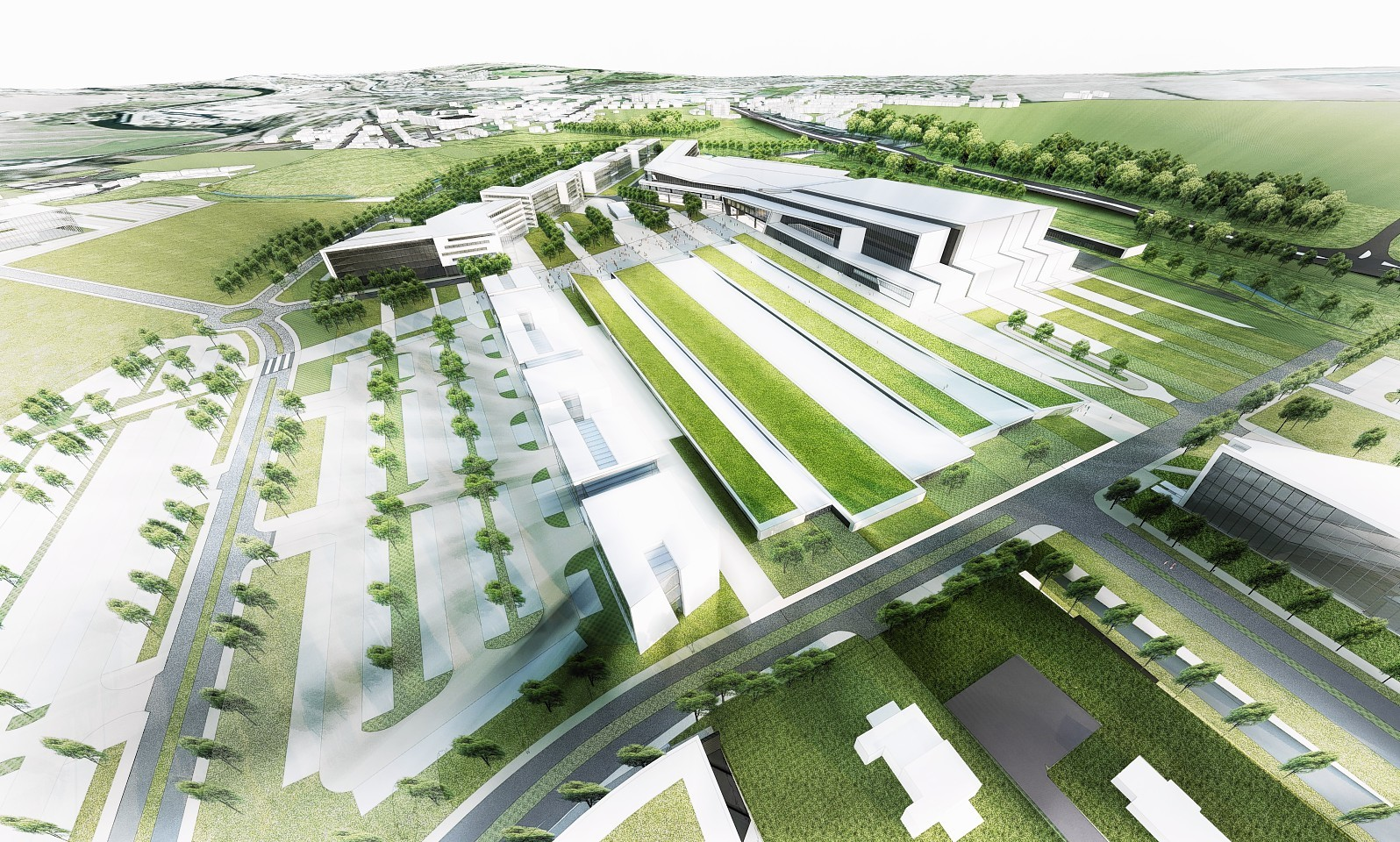 Artist impressions of the new AECC