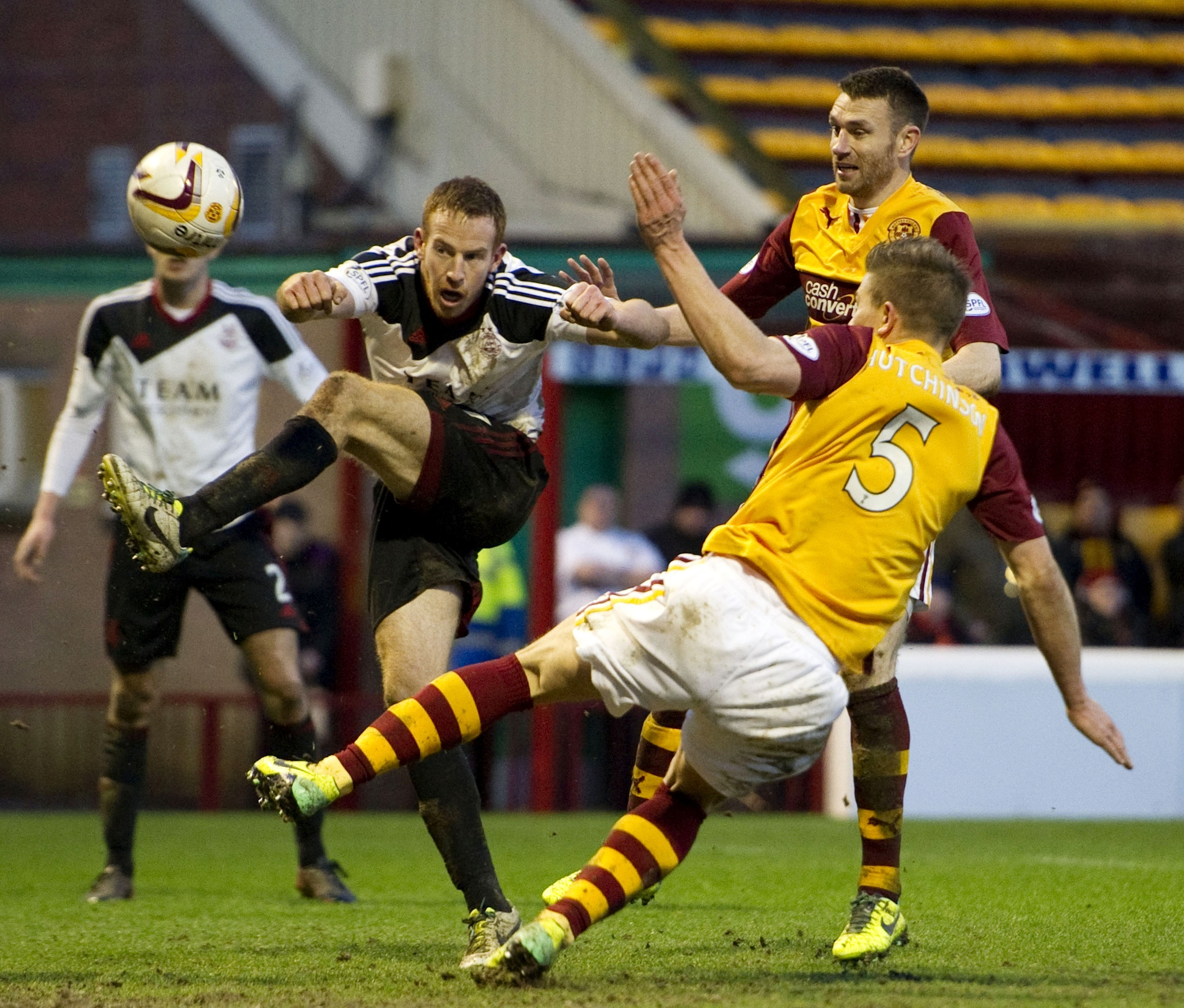 Adam Rooney will try to add to his 23 goals for the season this evening against Motherwell
