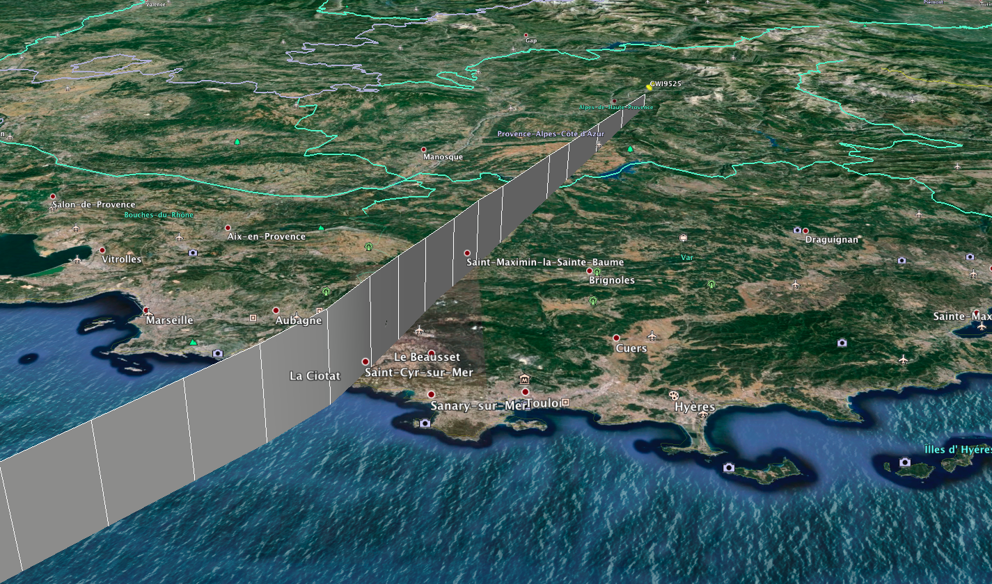 This image shows just how quickly the plane descended