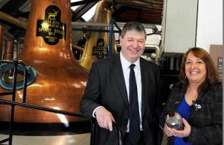 Scottish Secretary Alistair Carmichael on the campaign trail in Gordon
