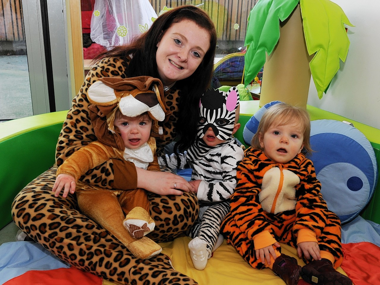 Youngsters at the Tree House nursery in Aberdeen dress up for ARCHIE