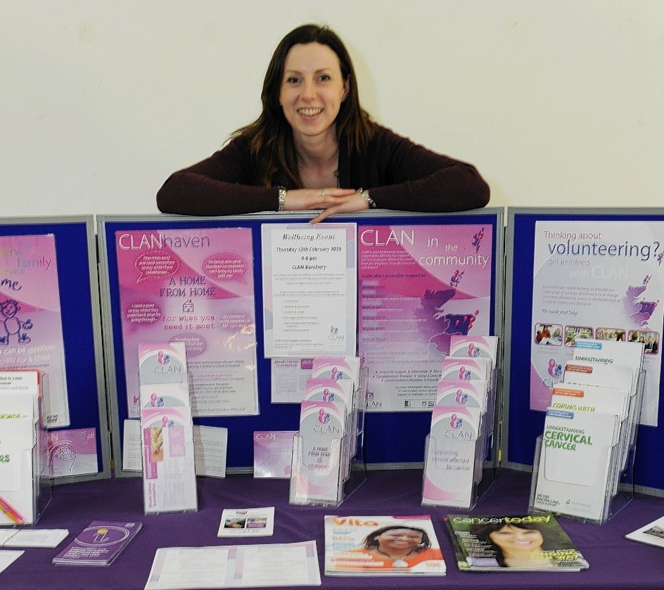 Clan Cancer Support, Banchory. Pictured is Clan area coordinator, Gemma Powell.