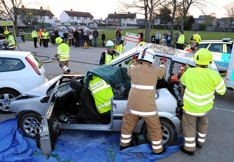 Police at a Crash Live event