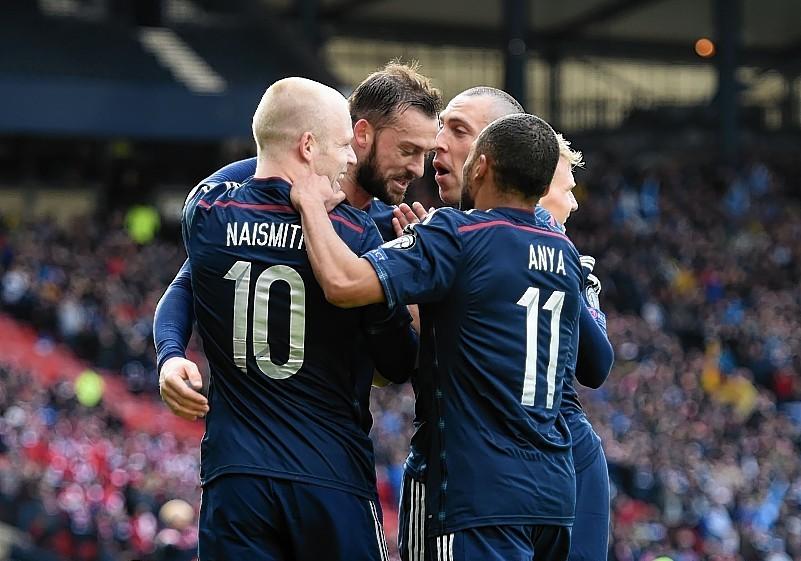 Steven Fletcher scored a hat-trick for Scotland