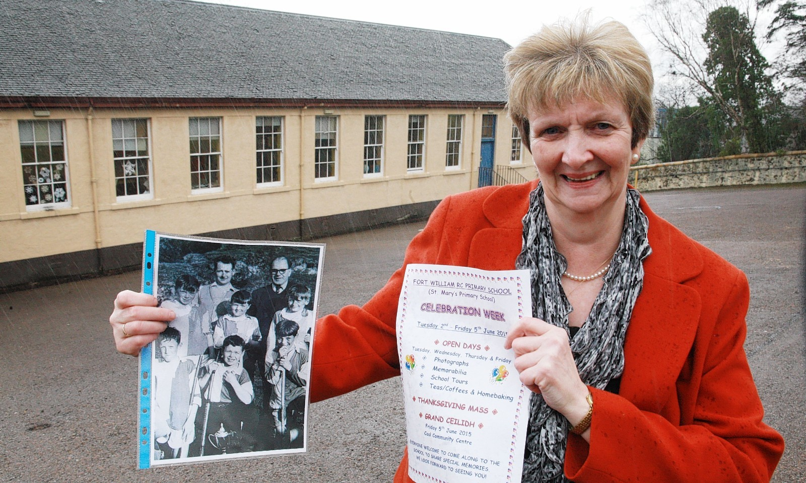 Violet Smith of Fort William RC Primary School is appealing to ex pupils and staff to join in a week to mark the school closing.