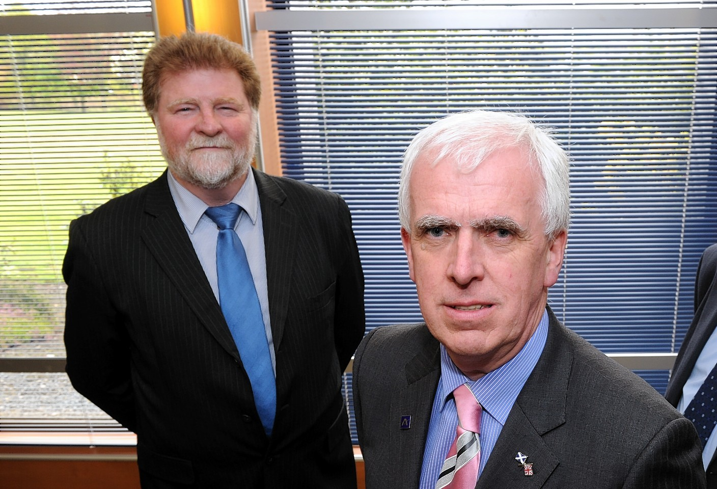 Martin Kitts-Hayes and Jim Gifford, leaders of Aberdeenshire Council