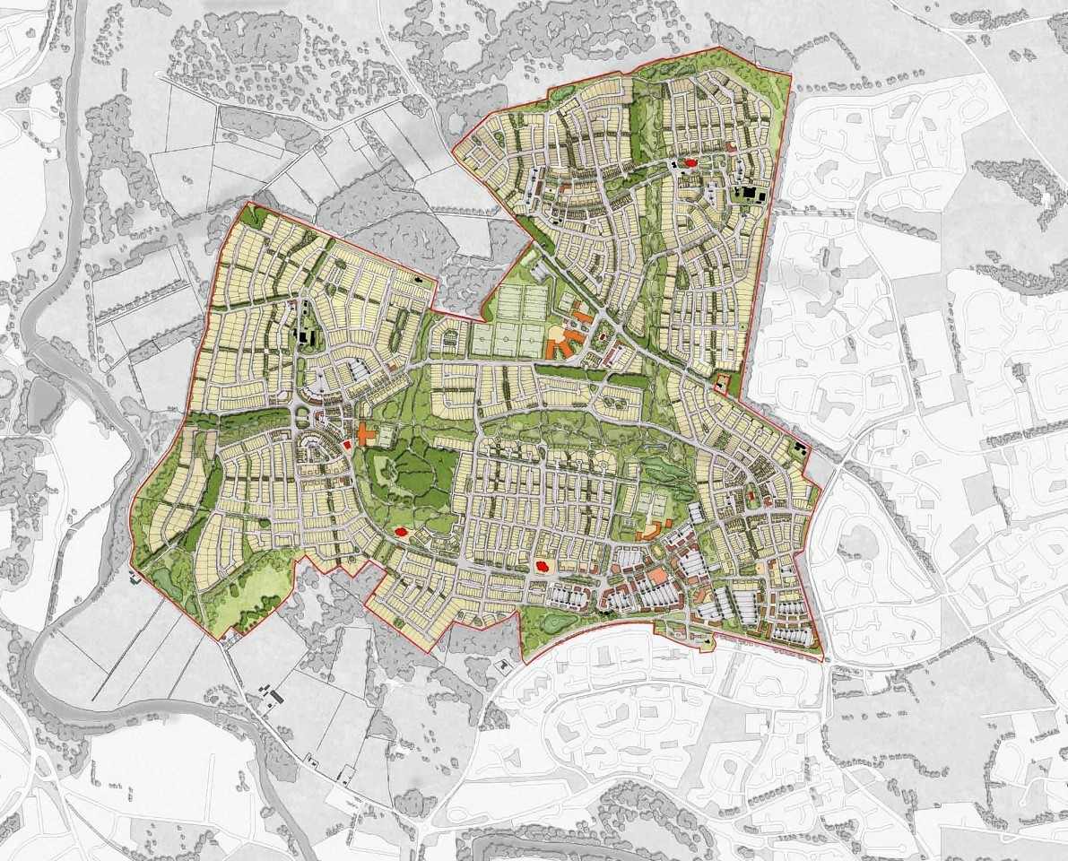 The new community of Grandhome, which will see almost £1billion invested in up to 7,000 homes, a new town centre, a business district and amenities
