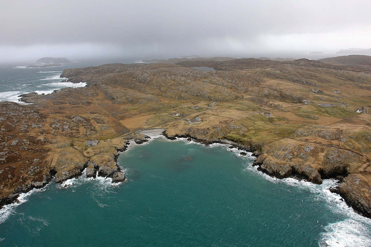 Great Bernera, which is connected to Lewis by a bridge.