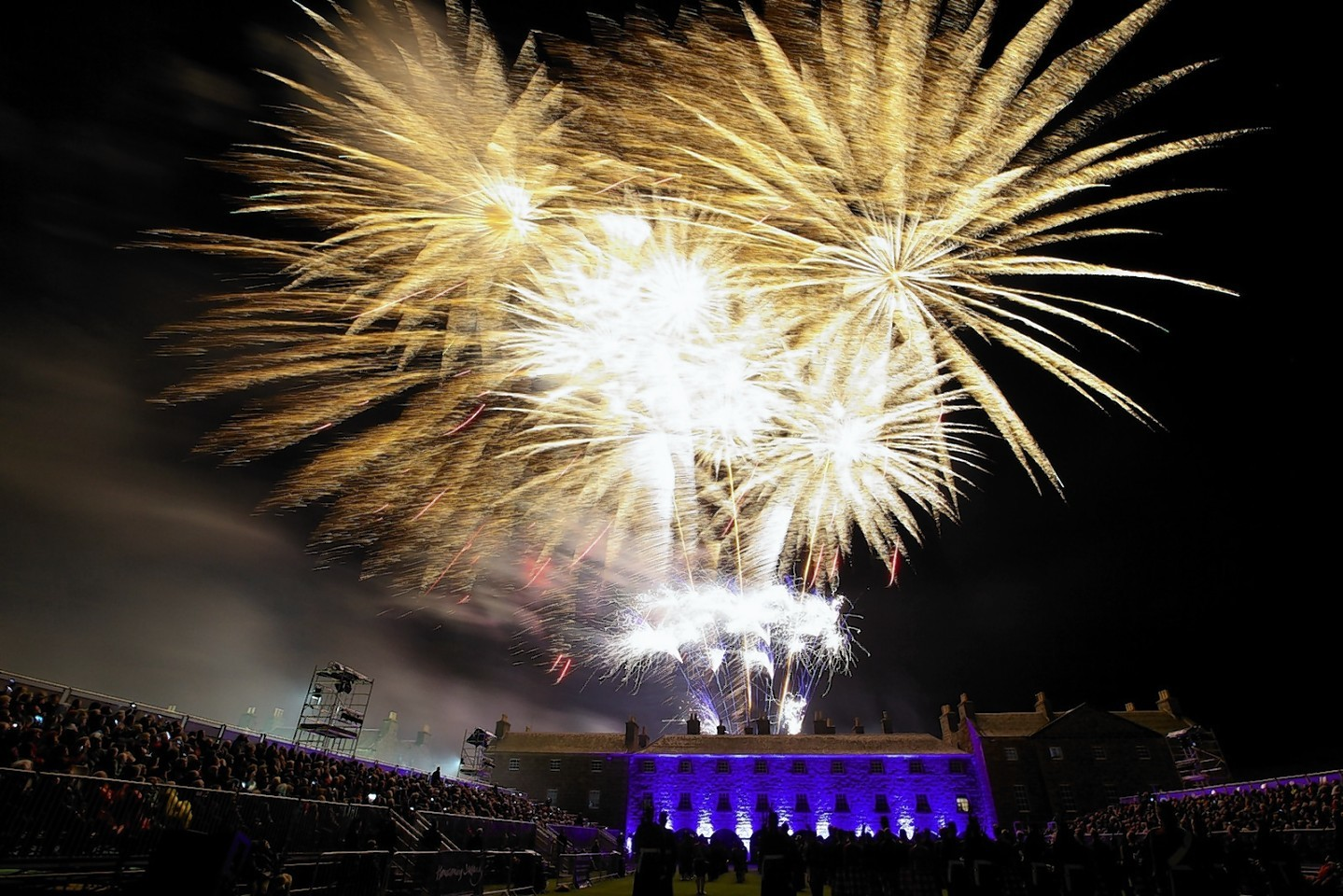 Firework display closes the Highland Military Tattoo at Fort George
