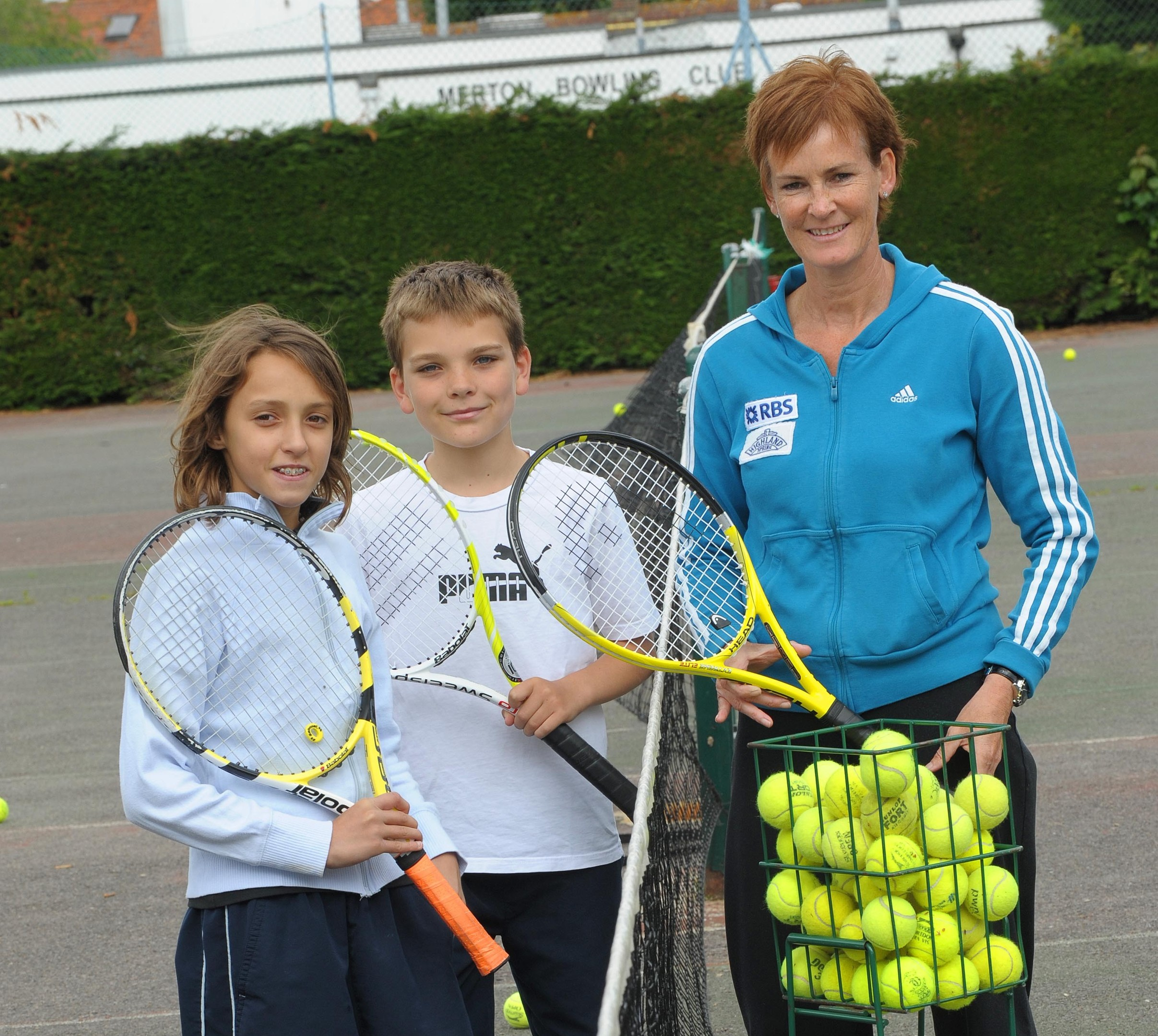 Judy Murray will take the lessons at Bellfield Park next Sunday