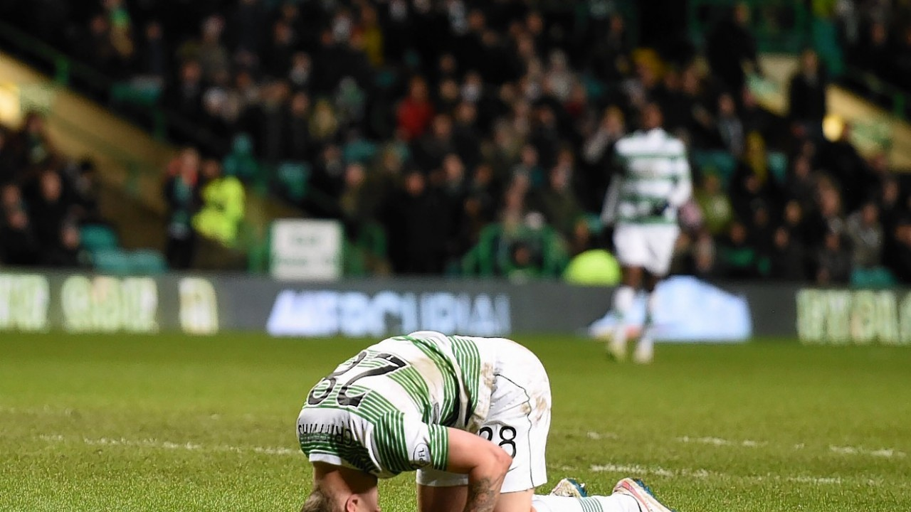 Leigh Griffiths was left on his knees at full time