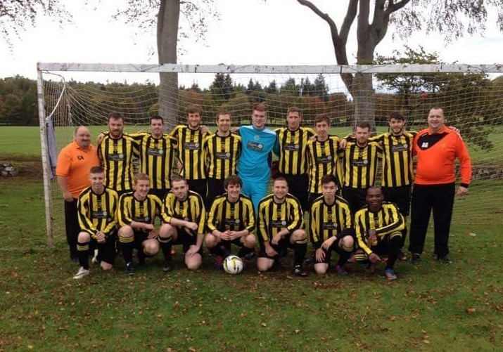 The current Middlefield Wasps team with Mr Norrie on the left