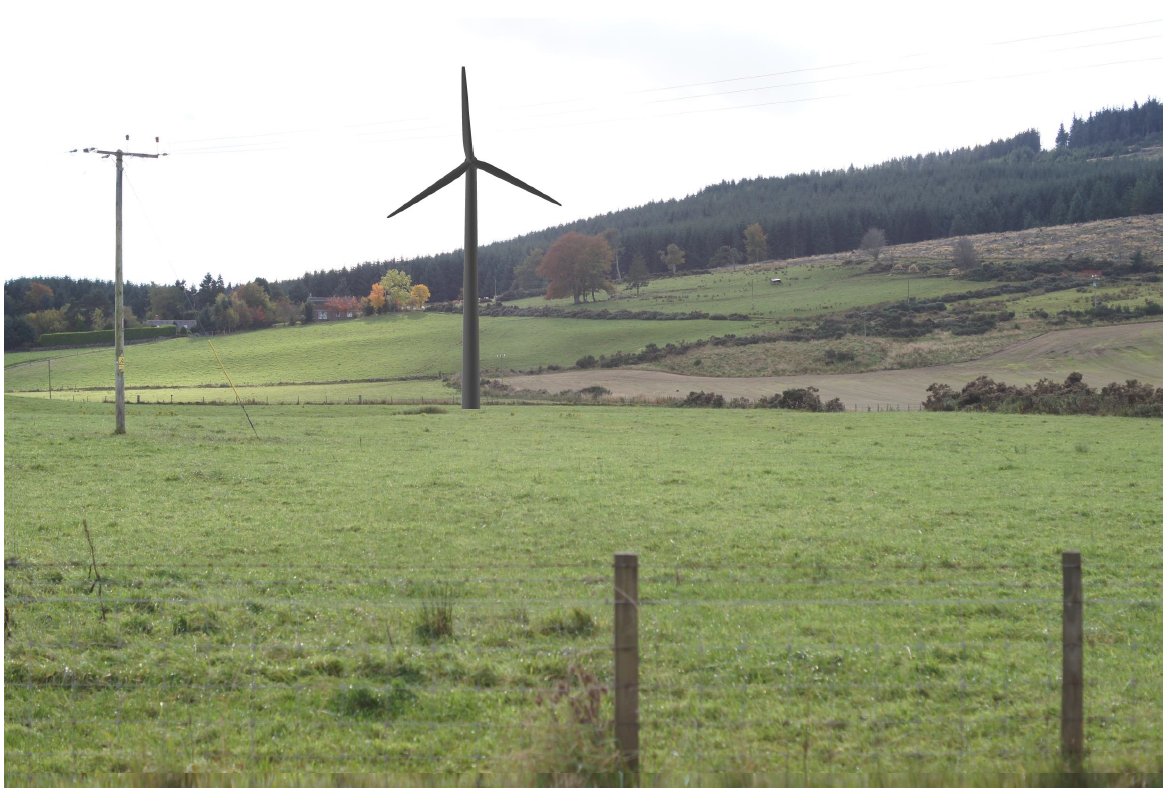 Artist impression of the planned turbine for North Lurg, Midmar