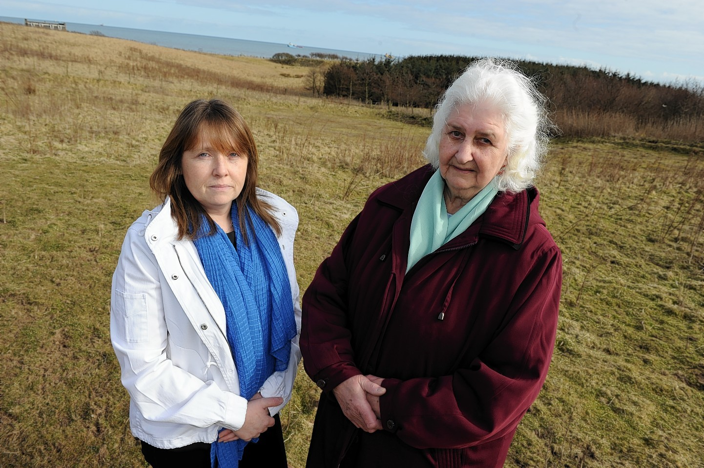 Objectors to the Blackdog plans, Nicola Brown and Edna Booth