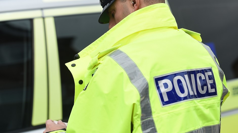 Police are investigating radical stickers that have appeared in Inverbervie