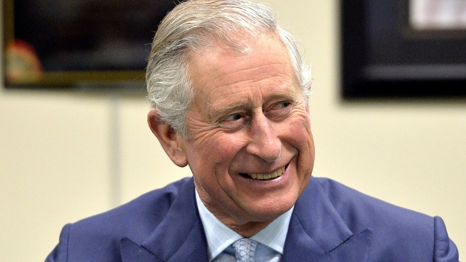 Prince Charles supports the body