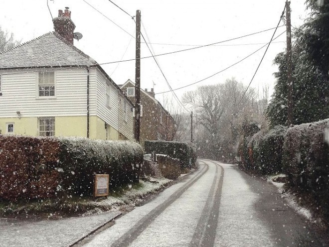 Eight schools and a nursery were closed yesterday as a result of heavy snow