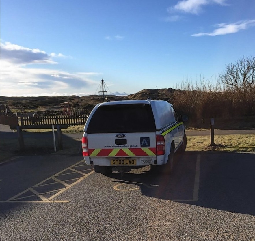 Paul Collier's picture of the offending Aberdeenshire Council van