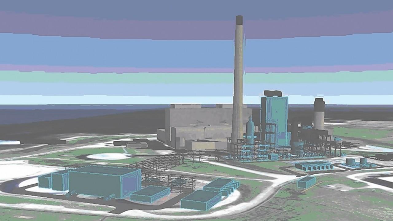 Artist impression of the Peterhead Carbon Capture project
