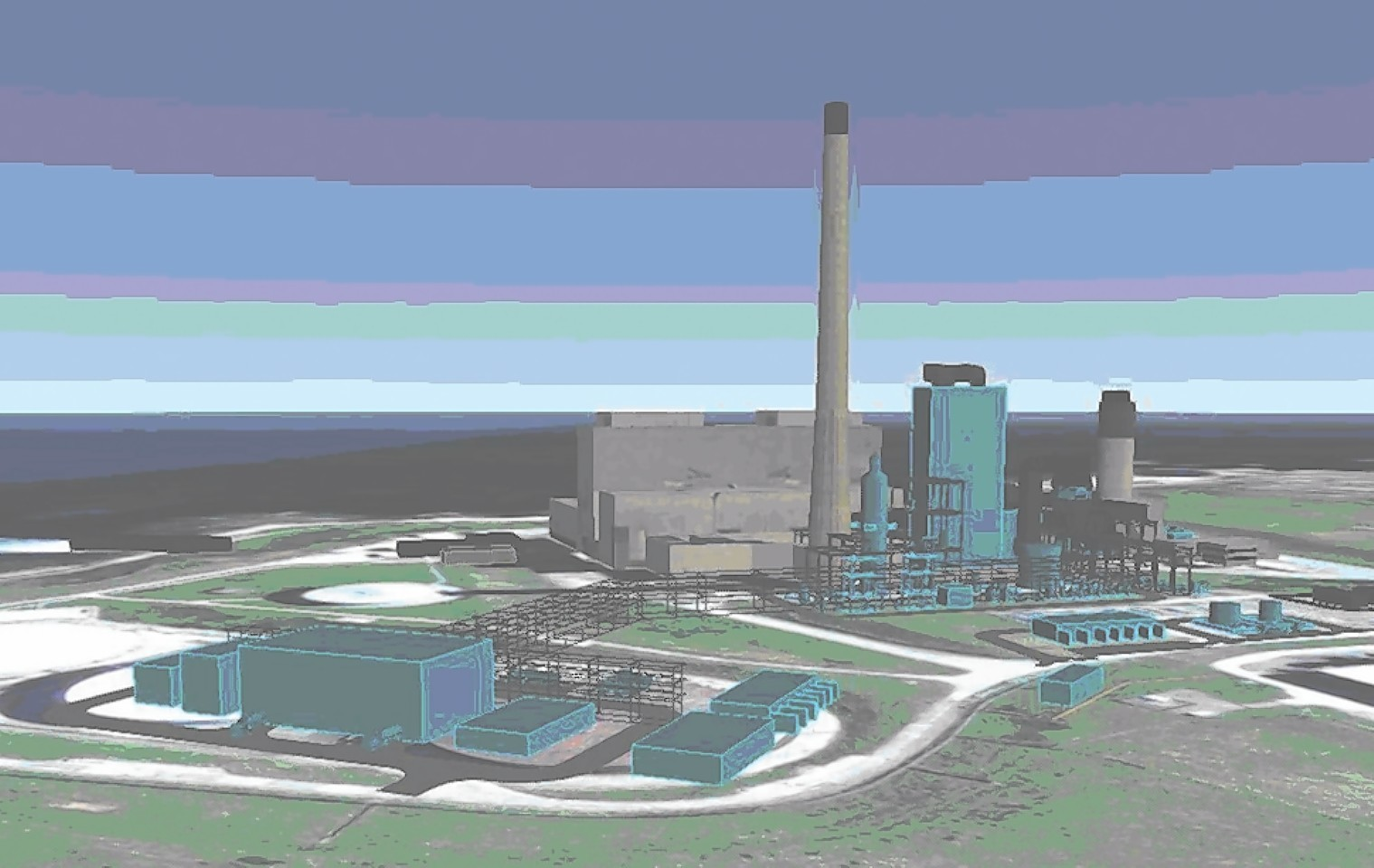 Artist impression of the Peterhead Carbon Capture project