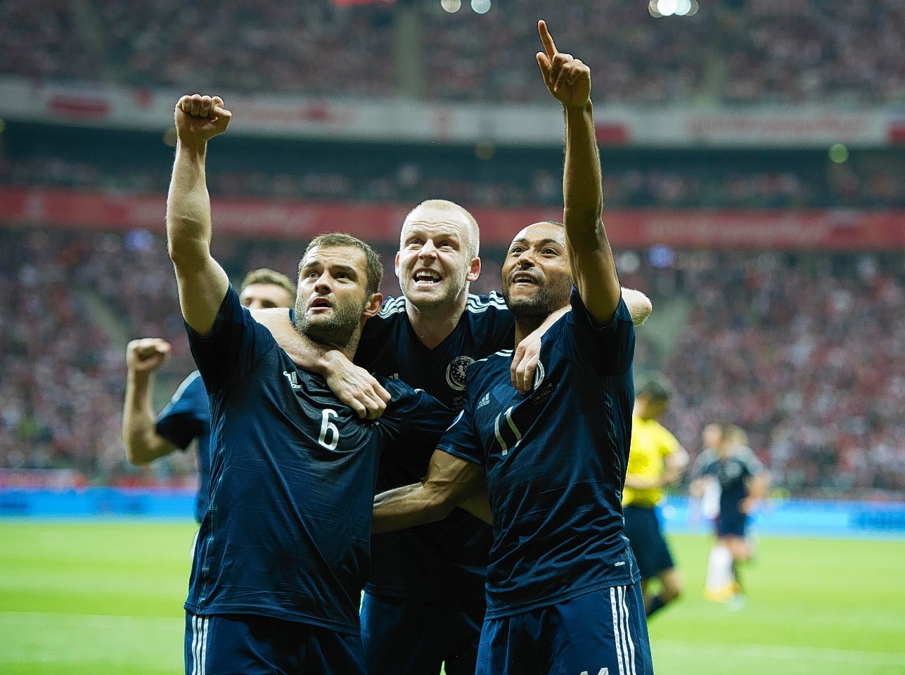 Shaun Maloney, Steven Naismith and Ikechi Anya