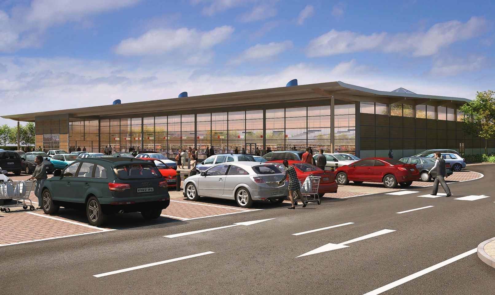 Previous artist's impression of a supermarket on Portree