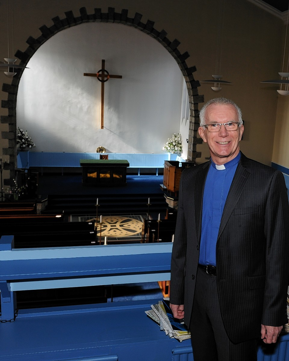 Rev Jim Davies, the interim minister for St Andrew's Church, Inverurie