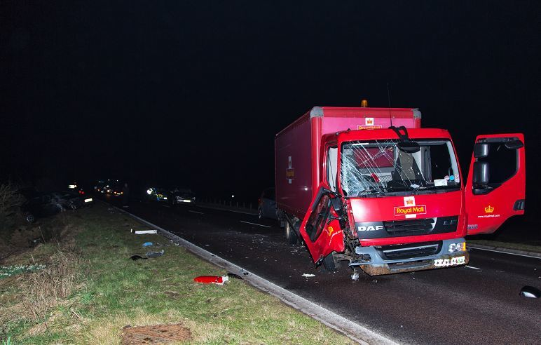 Royal Mail van involved in crash
