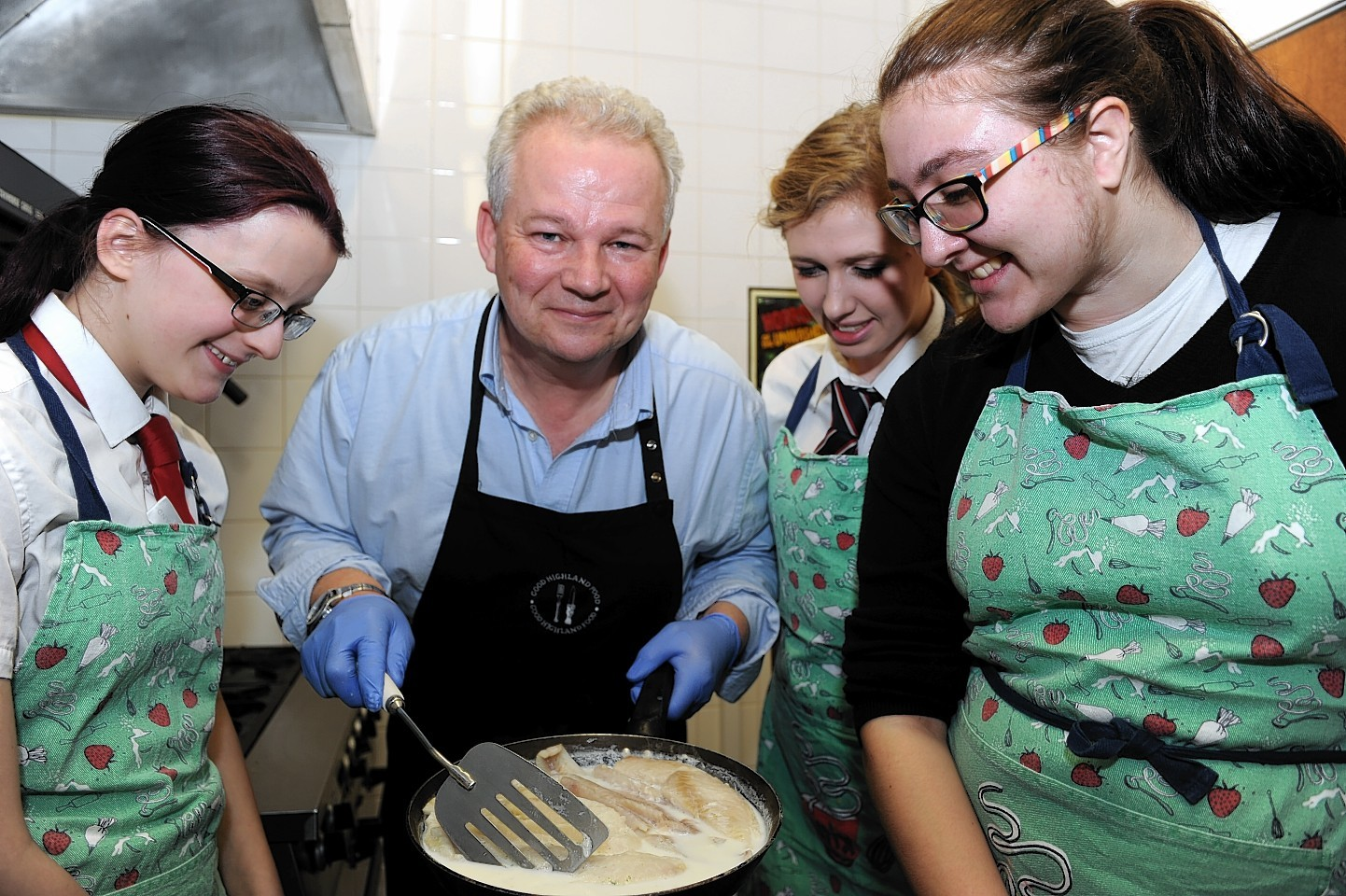 Elgin Academy students learned how to make smoked haddock fishcakes in the Elgin Youth Café kitchen