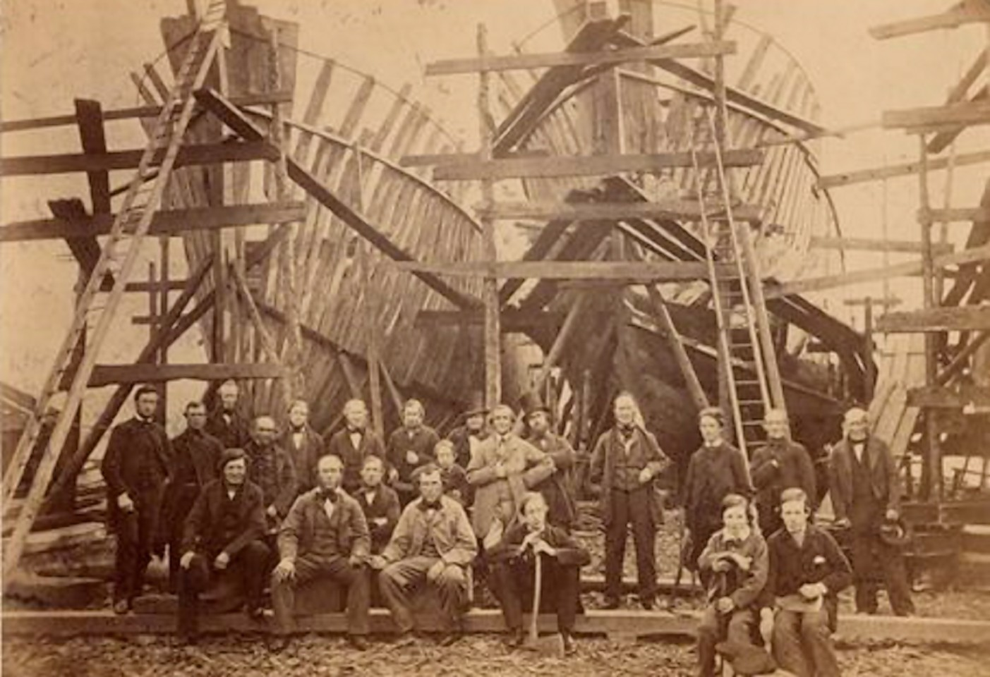 The shipyard of Aberdeen's Alexander Hall and Sons - who built the SS Aberdon
