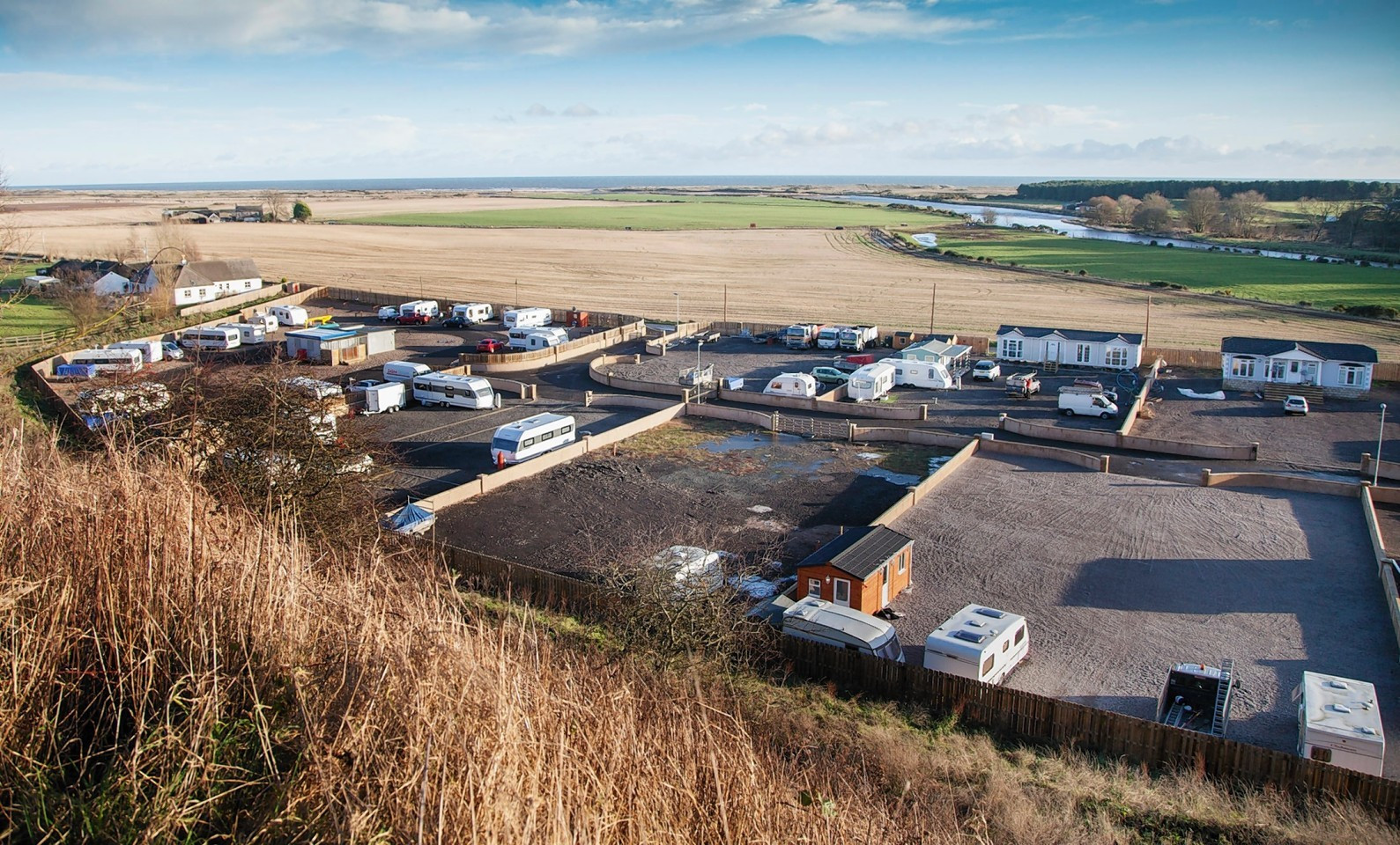 The St Cyrus travellers site