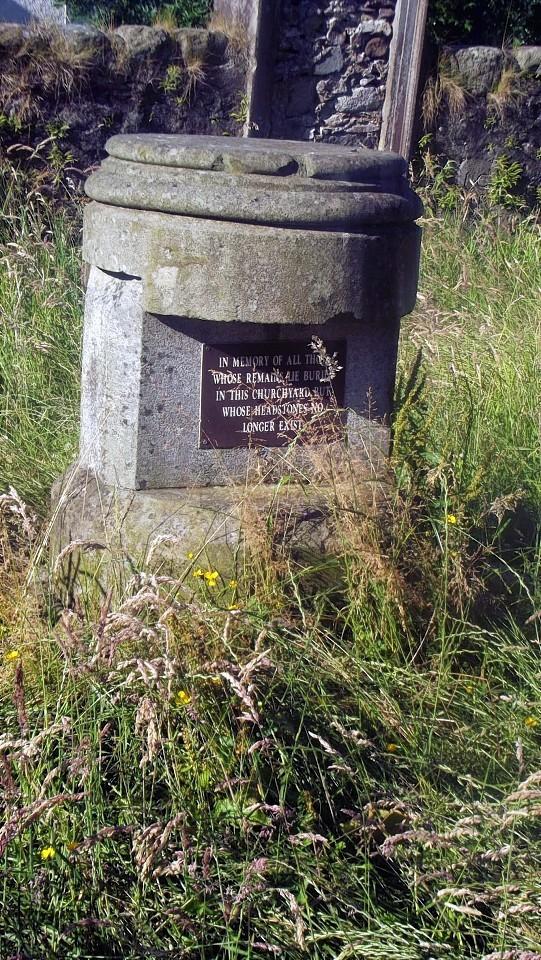 Gravestones in St Michael's Old Parish Church in Crieff