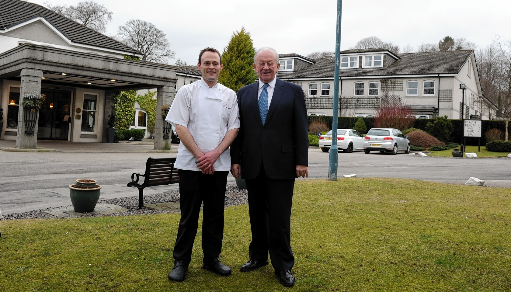 Stewart Spence, owner of the Marcliffe Hotel and his son, Ross