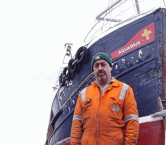 Skipper Angus Macleod said he and his four crew had never previously experienced anything like the incident
