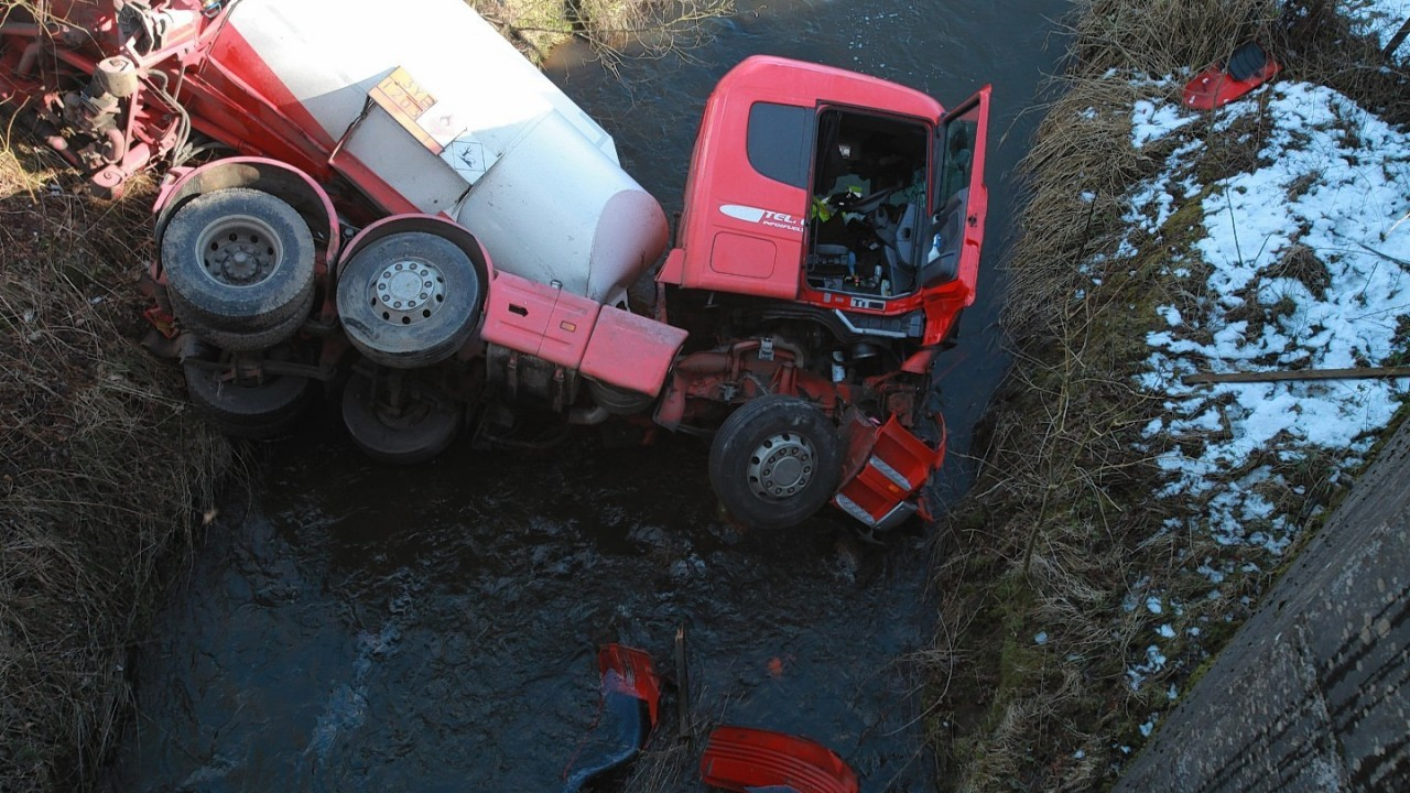 The tanker crashed in the early hours of this morning