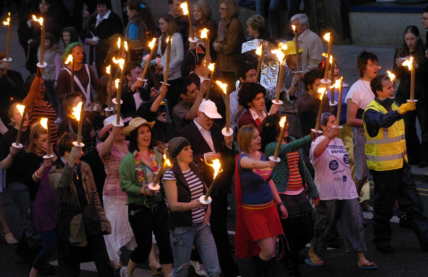 The torch bearers at the 2014 event