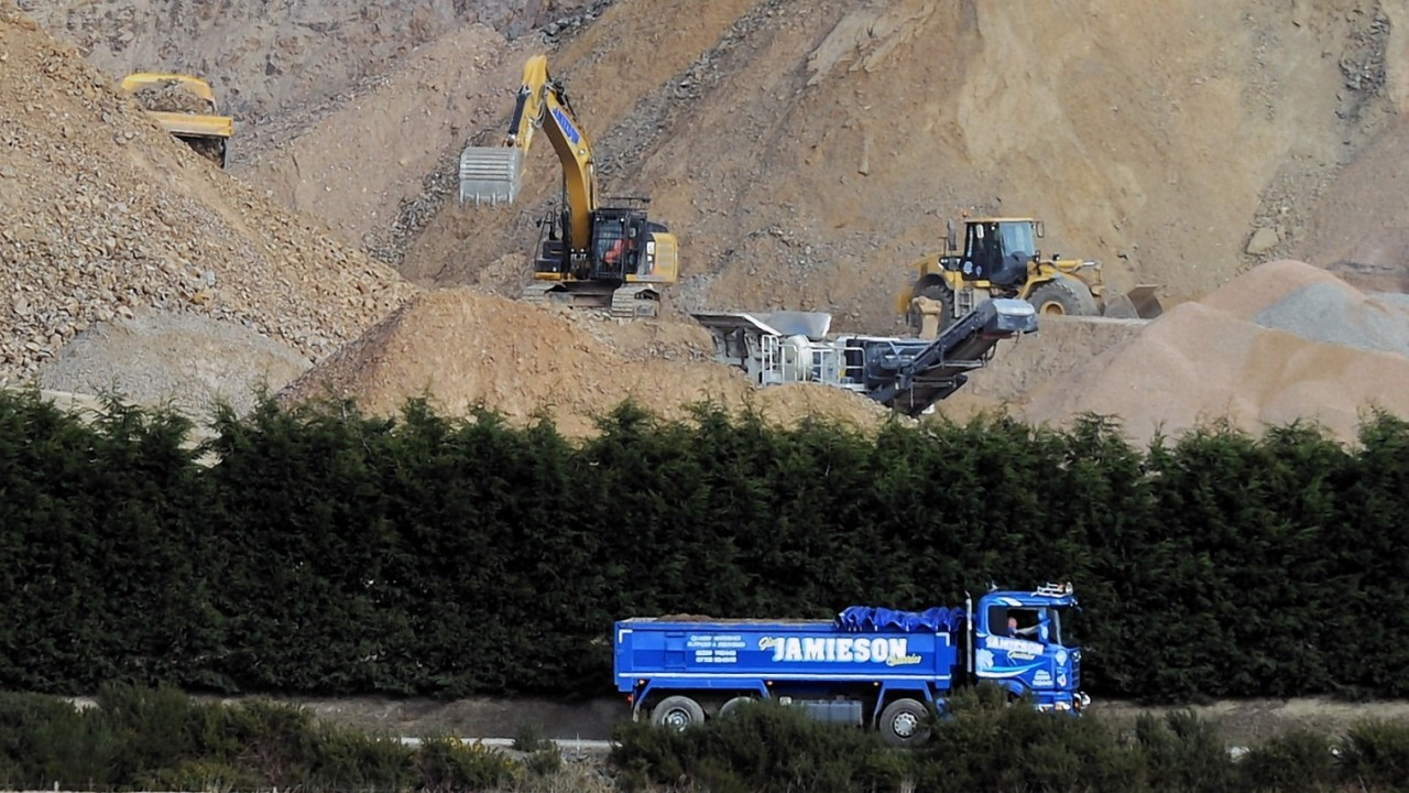 Residents in the neighbouring village fear the company is using the site as a quarry