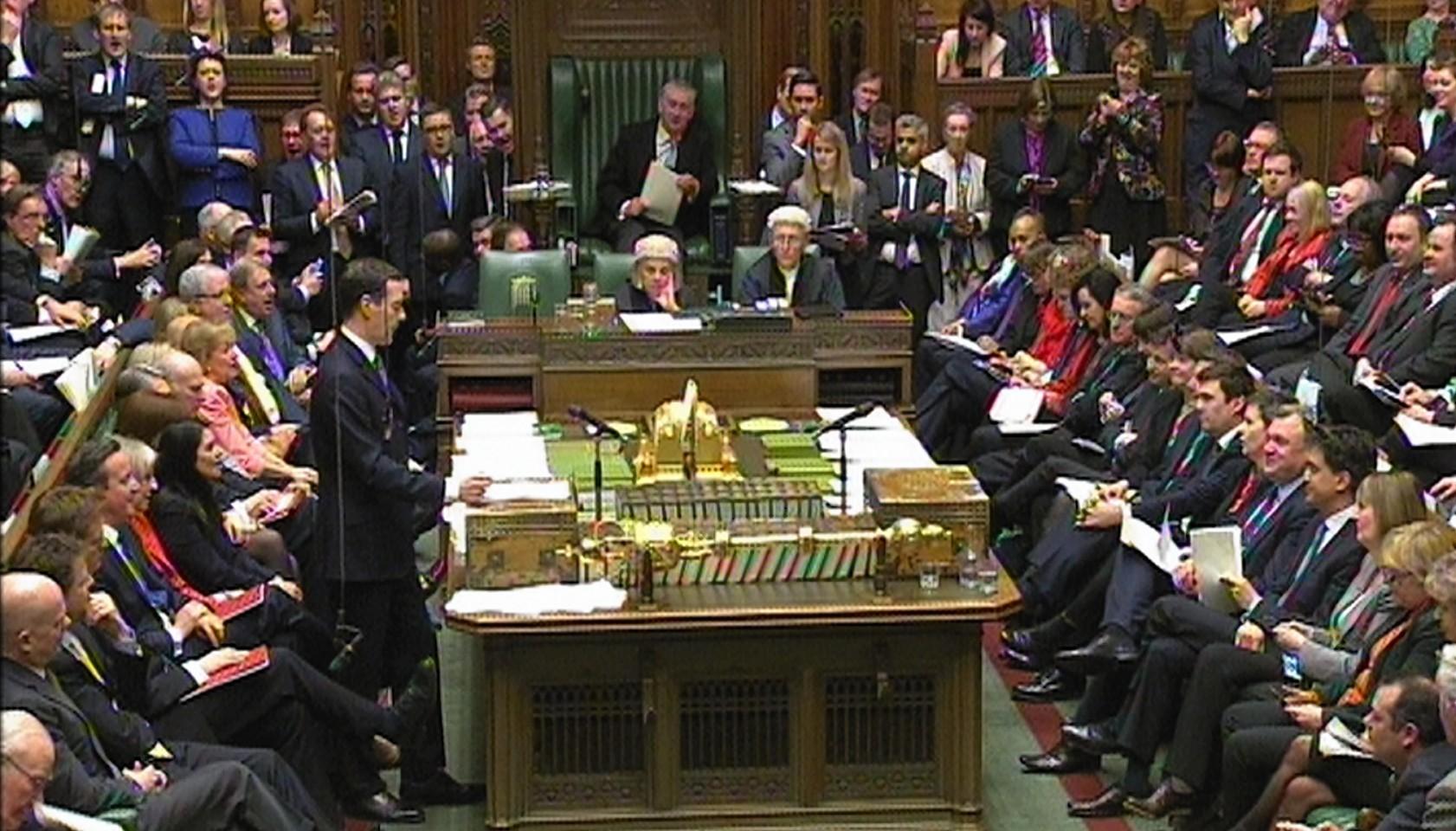 George Osborne delivers his Budget statement t