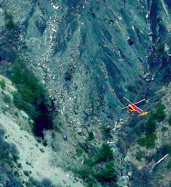 "The first images from the crash site show that the plane was ""pulverised"" into tiny pieces."
