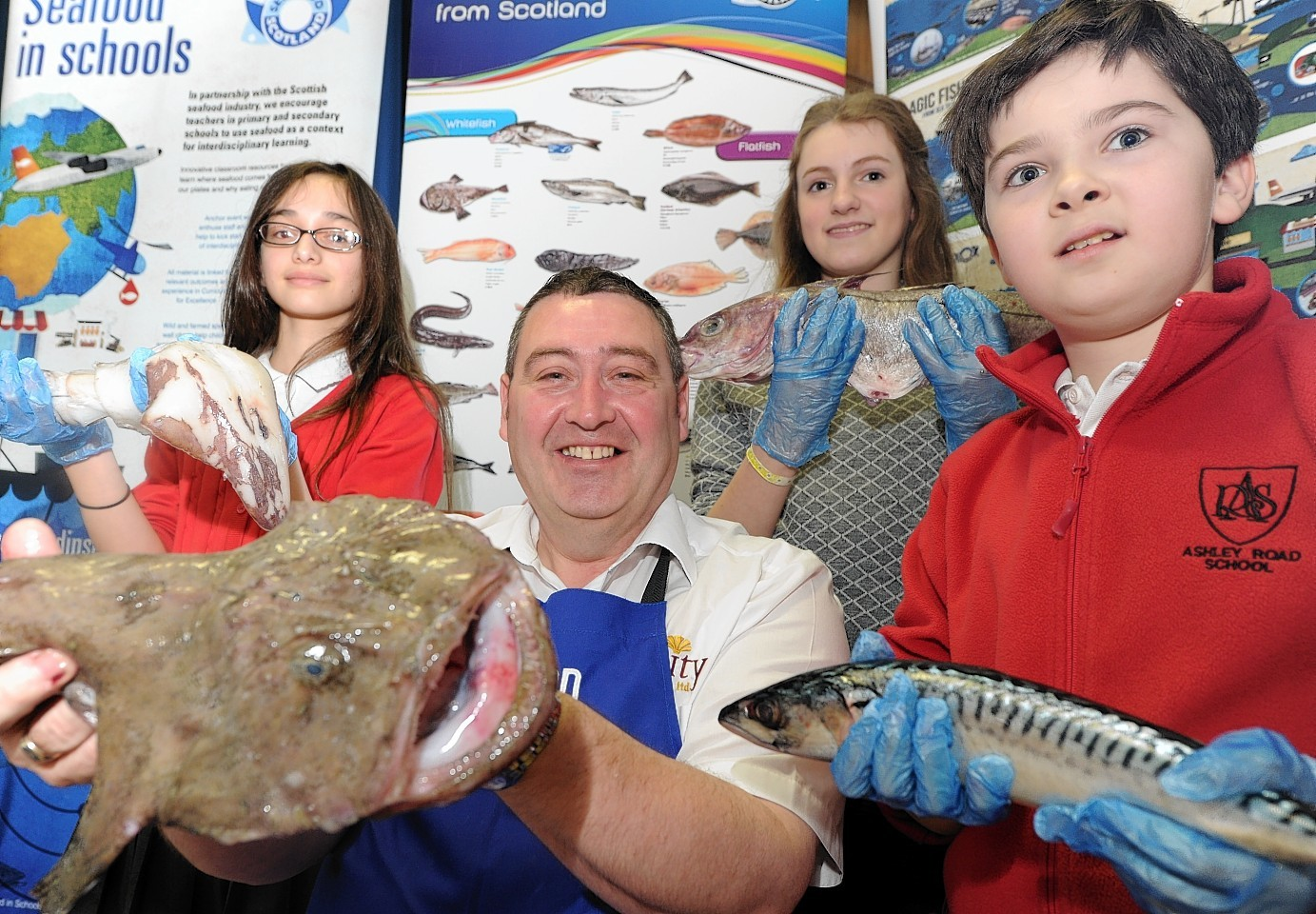 Seafood Scotland's Seafood in Schools project rolled into Aberdeen Grammar School