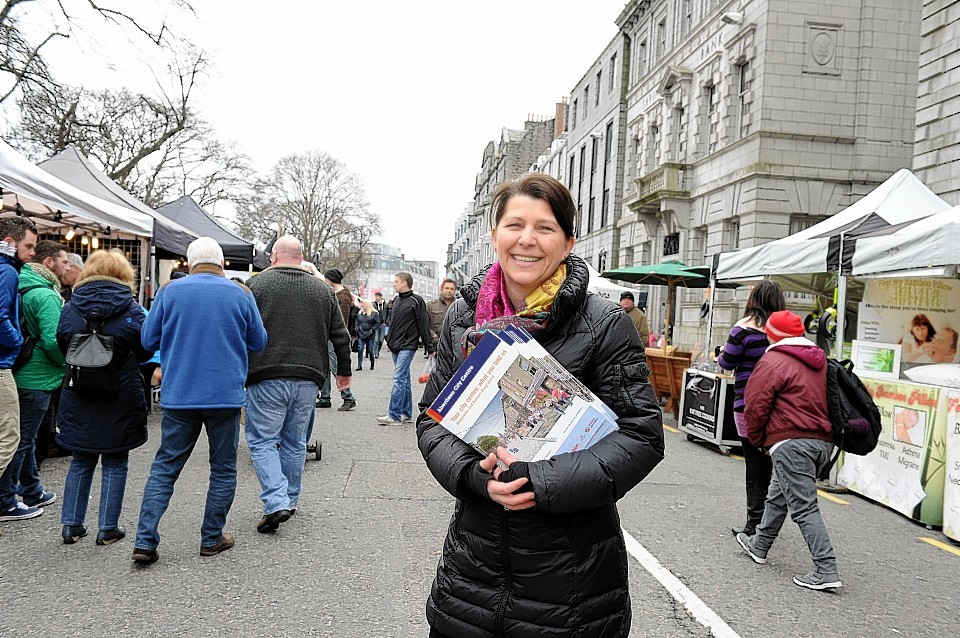 Councillor Marie Boulton was on hand to answer questions from the public